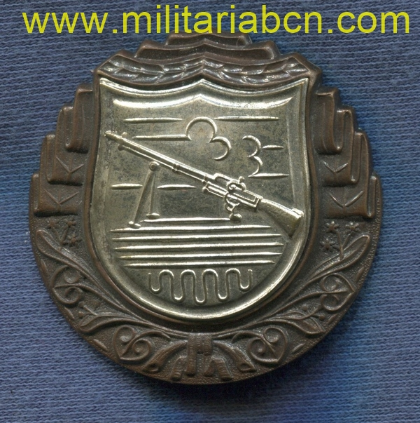 Militaria Barcelona light machine gun proficiency badge czechoslovakia