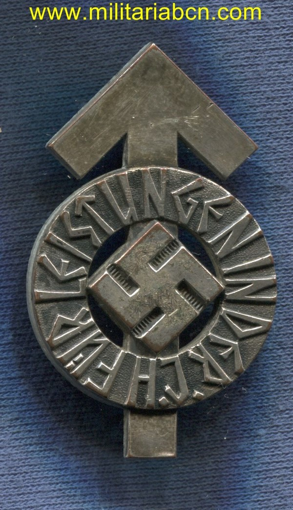 Germany III Reich. Hitler Youth Proficiency badge. Silver grade. RZM M1/34. HJ-Leistungsabzeichen. III Reich medal.