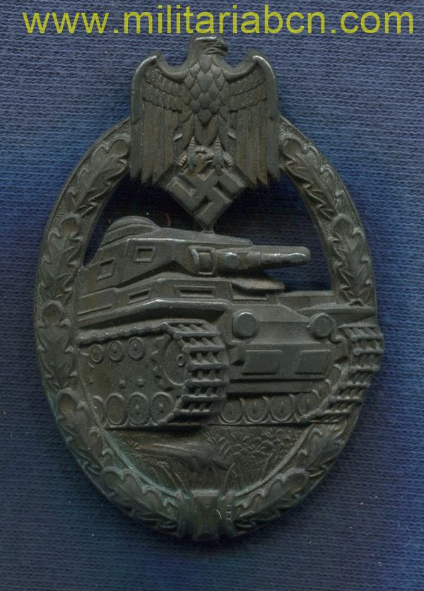 Germany III Reich. German Panzer Assault badge. Panzer Kampfabzeichen.   Bronze version. German award second world war.