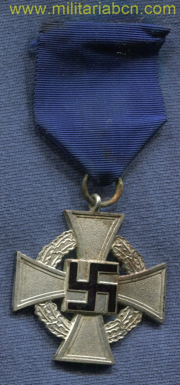 Germany III Reich. Faithful Service decoration. 25 years. Institued on January 30, 1938 by order of Adolf Hitler. III Reich medal.