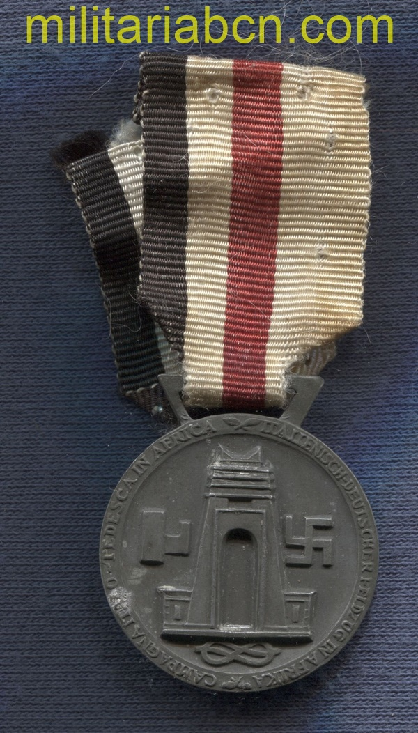 German Italian Campaign Medal. Made by Lorioli Milano. Zinc, III Reich medal.