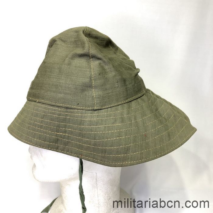 Tropical hat (Boonie Hat). Green. Used by the International Brigade Thälmann. Spanish Civil War