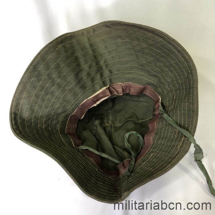 Tropical hat (Boonie Hat). Green. Used by the International Brigade Thälmann. Spanish Civil War Liner