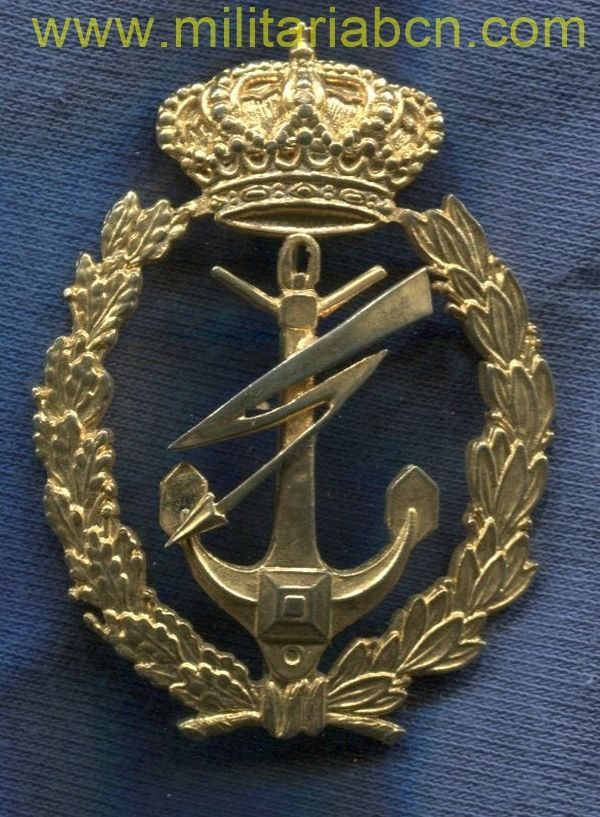 Specialty emblem Basic Electricity (Higher and Technical Scale) of the Spanish Navy. Regulations 1999. 62 x 44 mm.