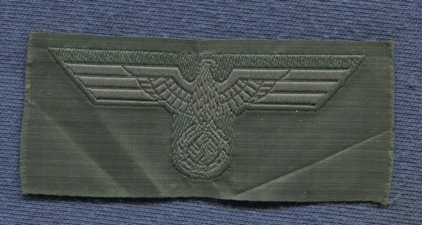 Cloth EM and NCO's cap badge of the Wehrmacht