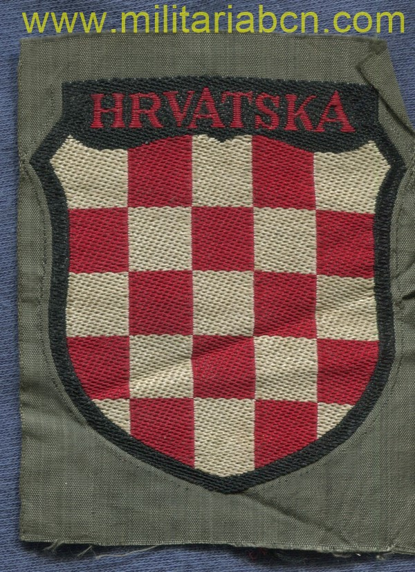 Sleeve shield of the Croatian Volunteers in the Wehrmacht