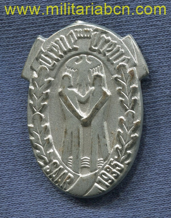 Germany III Reich. Winterhilfswerk badge. Saar