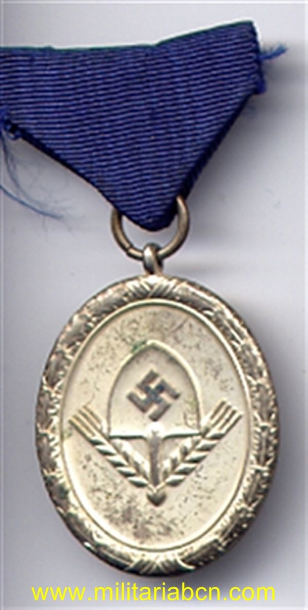 Germany III Reich. Medal for Service in the RAD. 12 Years. 3RS cLASS. For men. RAD Dienstauszeichnung für Männer 3. Stufe für 12 Jahre in Silber