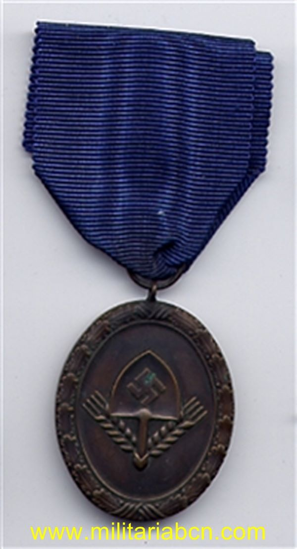 Germany III Reich. Medal for Service in the RAD. 4 Years. For men. Dienstauszeichnung für Männer 4. Stufe in Bronze