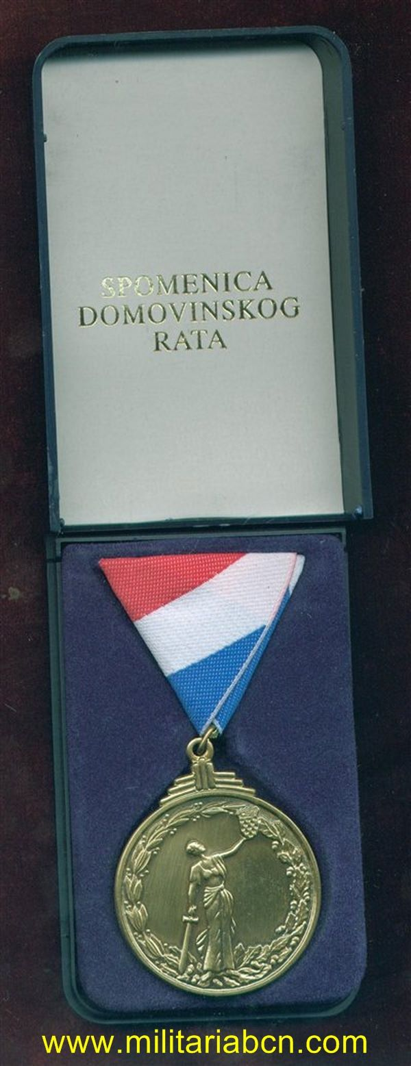 Militaria Barcelona croatia national war medal
