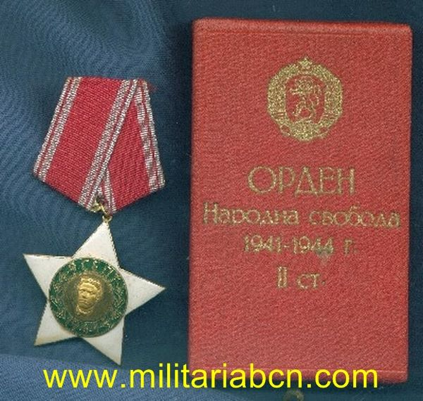 Militaria Barcelona Bulgaria order 9 september