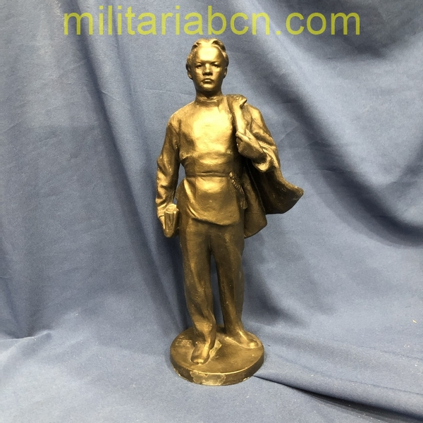 USSR Soviet Union. Silumin figure of Lenin student. 30 cm high. militariabcn.com