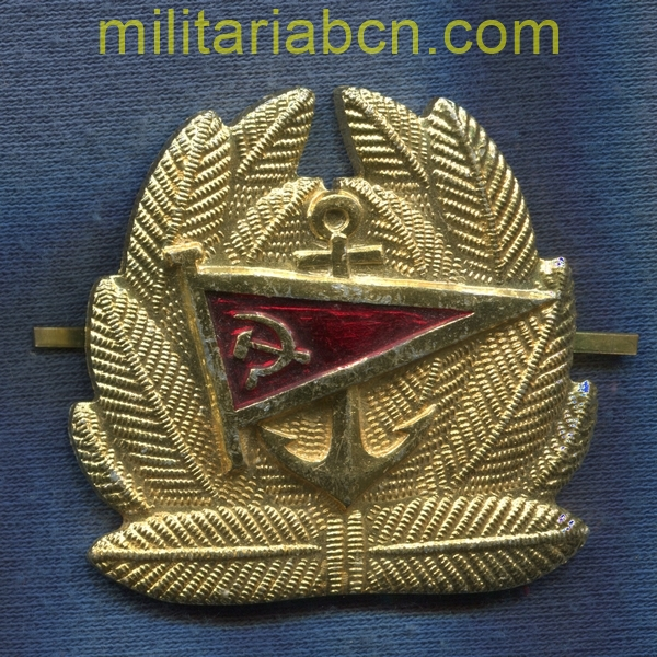 USSR Soviet Union. Cap badge of Merchant Marine Officer. militariabcn.com