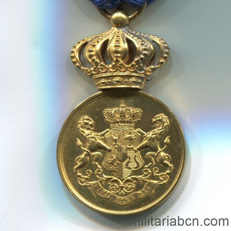 Militaria Barcelona Romania. Faithful Service Medal. Model 1880. 1st Class.