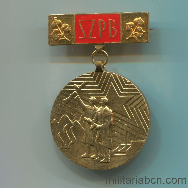 Militaria Barcelona Socialist Republic of Czechoslovakia. Medal of Recognition of the SZPB Slovak Union of Fighters against Fascism.