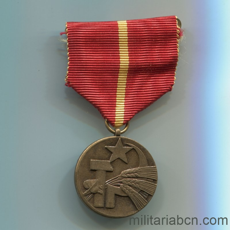 Militaria Barcelona Socialist Republic of Czechoslovakia. 25th Anniversary Medal of the Slovak Agricultural Federation. Full