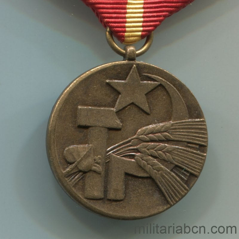 Militaria Barcelona Socialist Republic of Czechoslovakia. 25th Anniversary Medal of the Slovak Agricultural Federation.