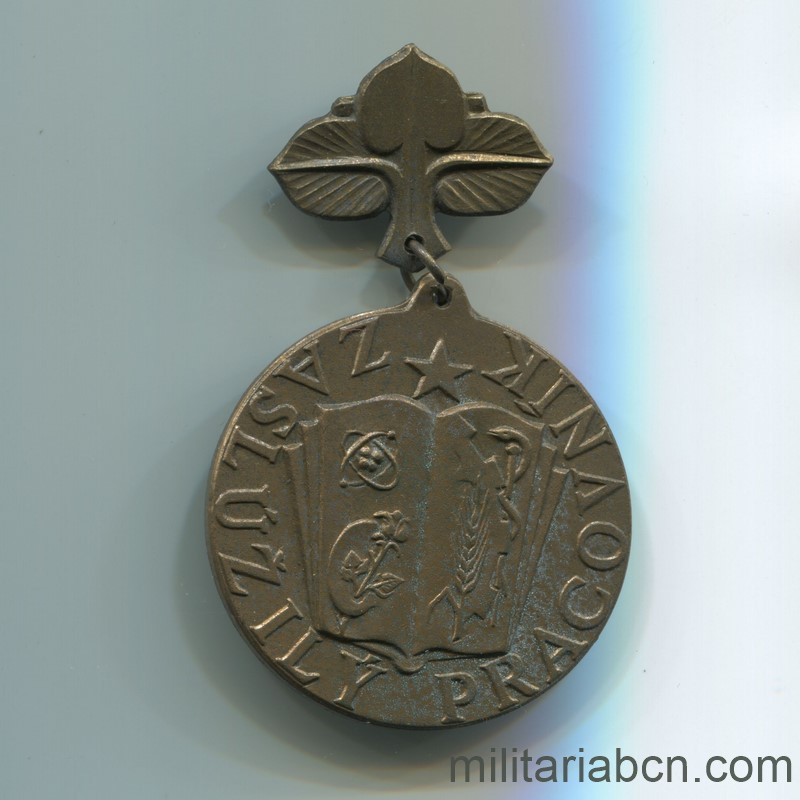 Militaria Barcelona. Socialist Republic of Czechoslovakia. Distinguished Teacher Medal of the Slovak Socialist Republic.