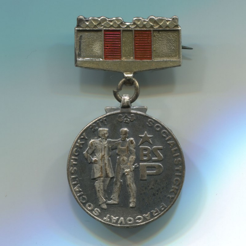 Militaria Barcelona Socialist Republic of Czechoslovakia. Medal of member of the Socialist Brigades