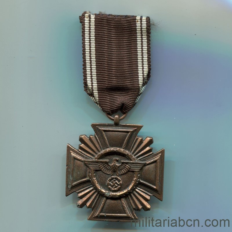 Militaria BarcelonaNSDAP Long Service Award; Third Class. 10 Years. Ribbon