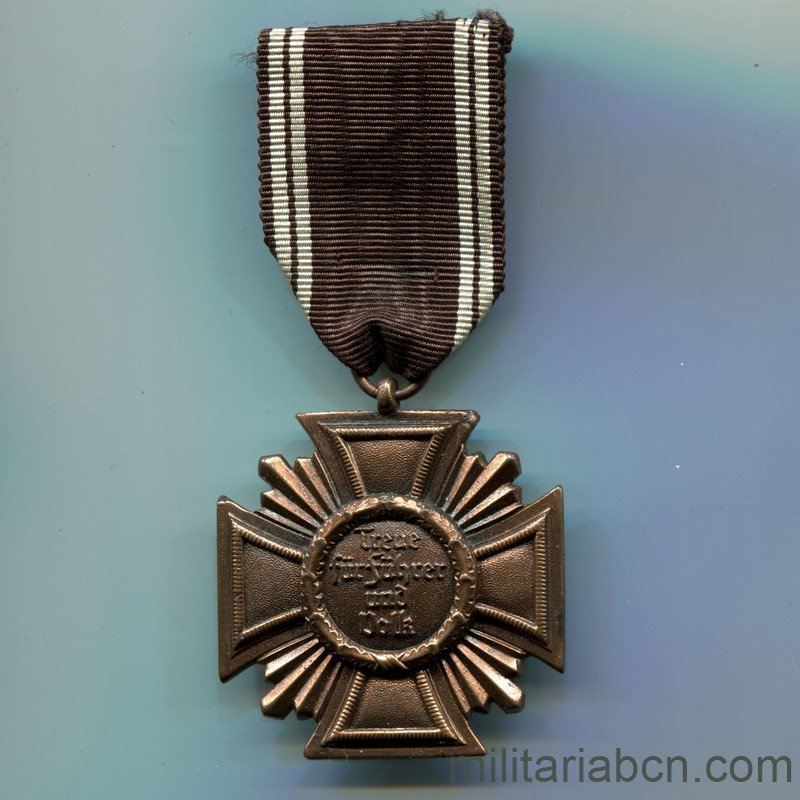 Militaria BarcelonaNSDAP Long Service Award; Third Class. 10 Years. Ribbon reverse