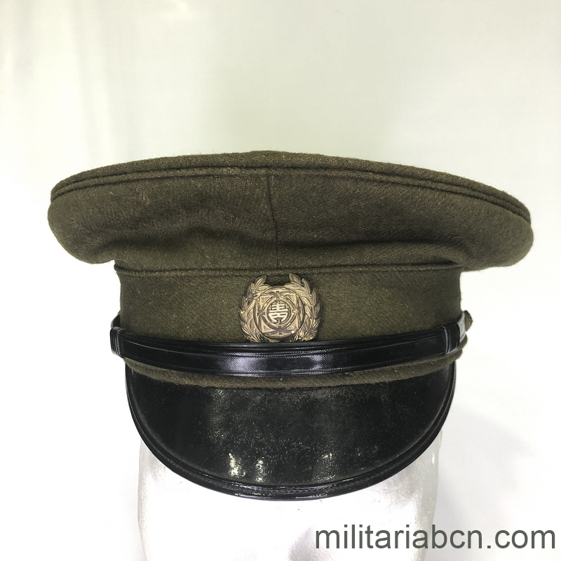 Militaria Barcelona Japan. Visor cap Military Police. 2nd World War.