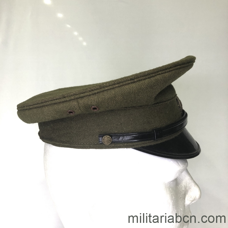 Militaria Barcelona Japan. Visor cap Military Police. 2nd World War. lat3