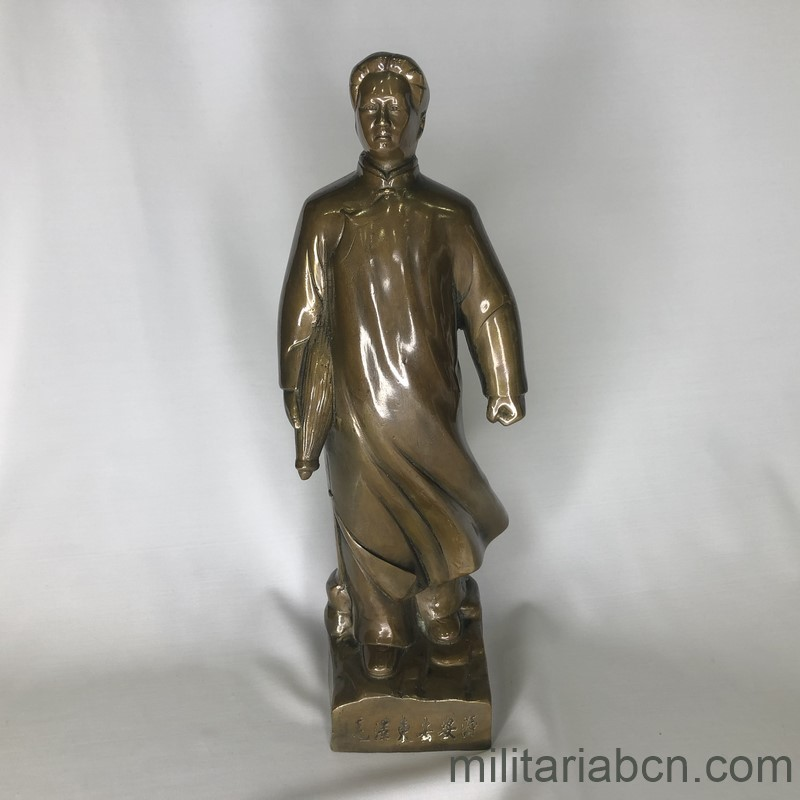 Militaria Barcelona PEOPLE'S REPUBLIC OF CHINA. Figure of Mao in metal,