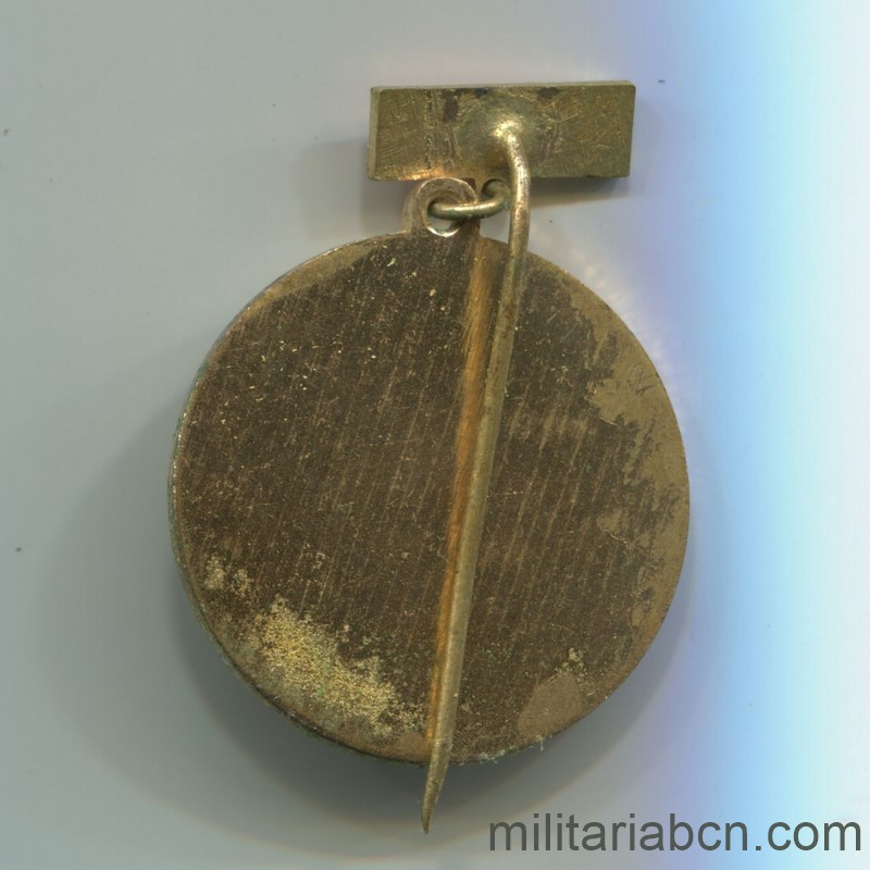 Militaria Barcelona Medal for 25 Years of militant of the KSCS Communist Party of Czechoslovakia Reverse