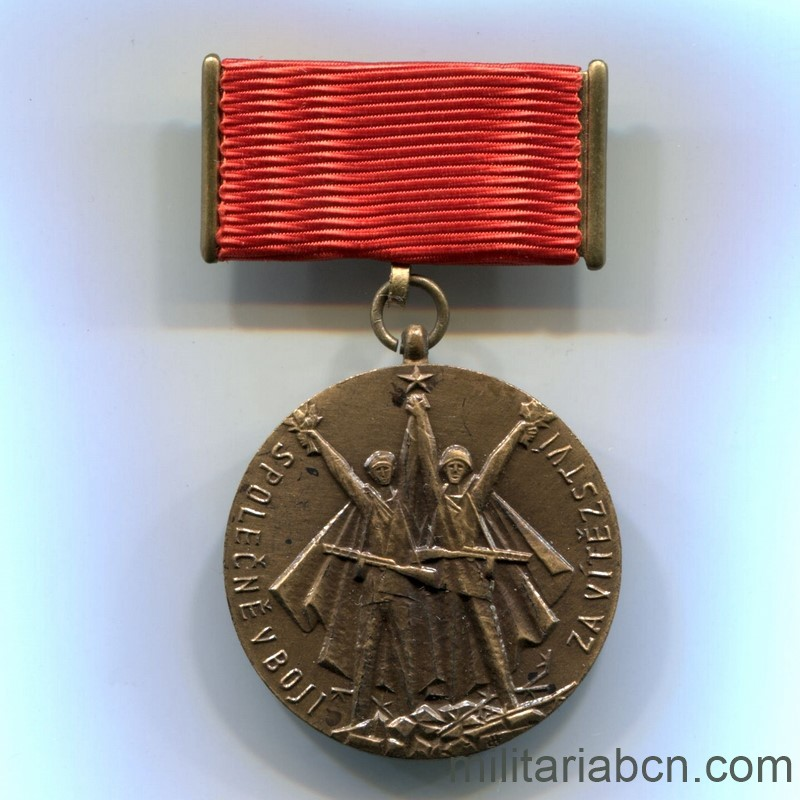 Militaria Barcelona Medal of the 30th Anniversary of the Union with the Soviet Army for the Liberation of Czechoslovakia. 1944-1974. Medal