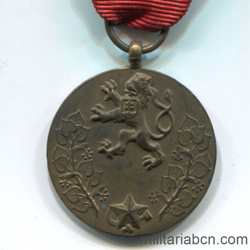 Militaria Barcelona Czechoslovak Socialist Republic. Medal for Service to the Fatherland 1955.