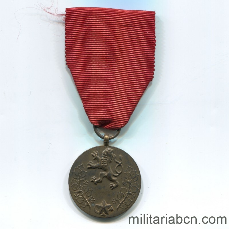 Militaria Barcelona Czechoslovak Socialist Republic. Medal for Service to the Fatherland 1955. Ribbon