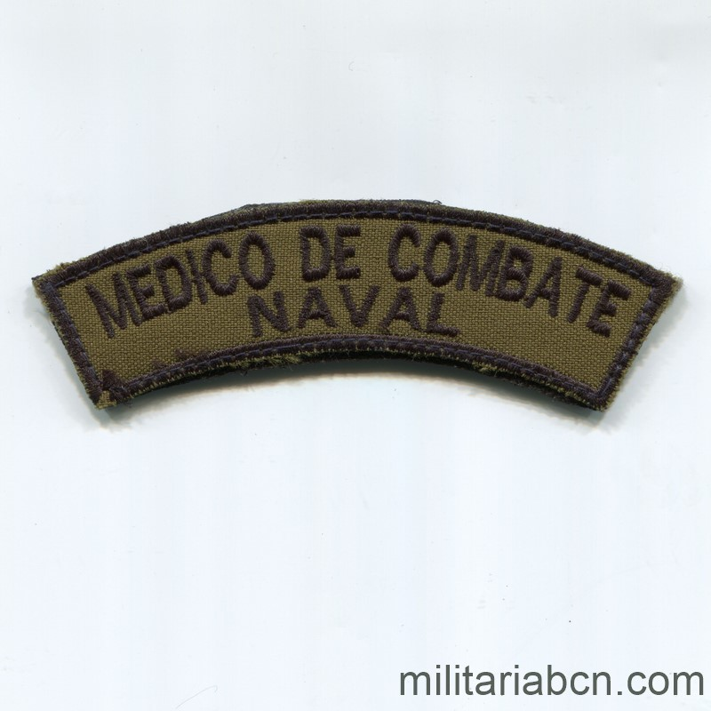 Nilitaria Barcelona Paraguay Medico Combate Naval patch