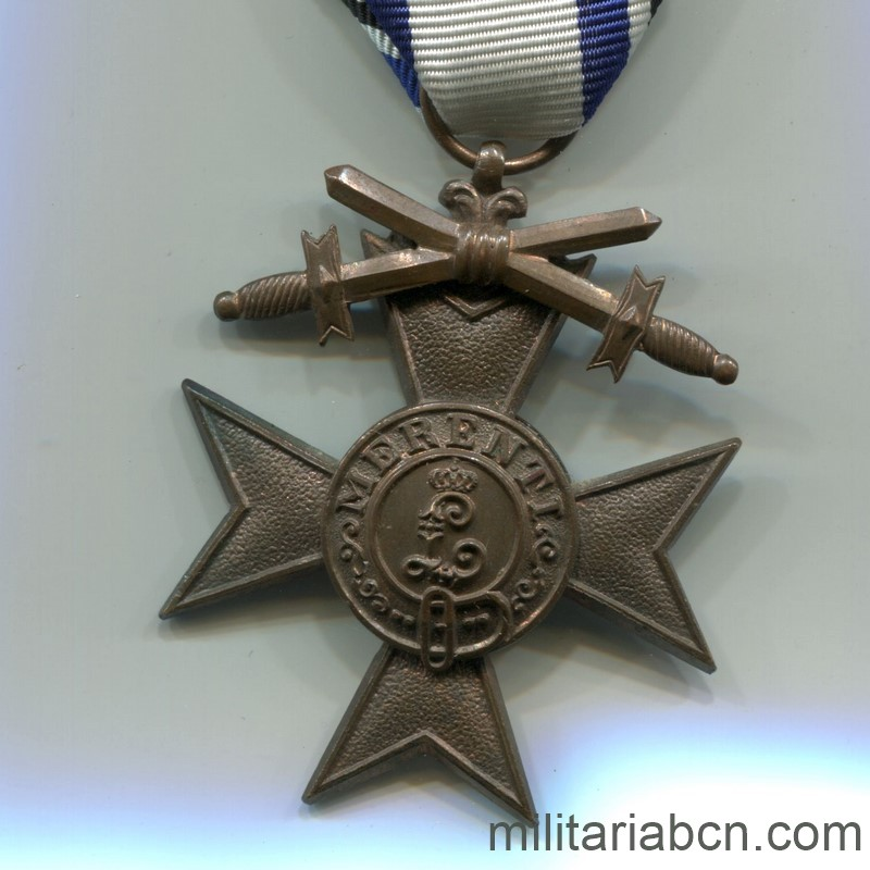 Militaria Barcelona Germany.  Bayern  Military Merit Cross.  2nd Class  With swords.  1st World War.