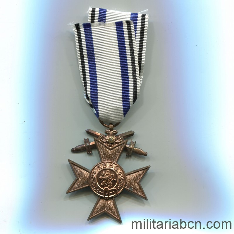 Militaria Barcelona Germany.  Bayern  Military Merit Cross.  2nd Class  With swords.  1st World War. ribbon reverse