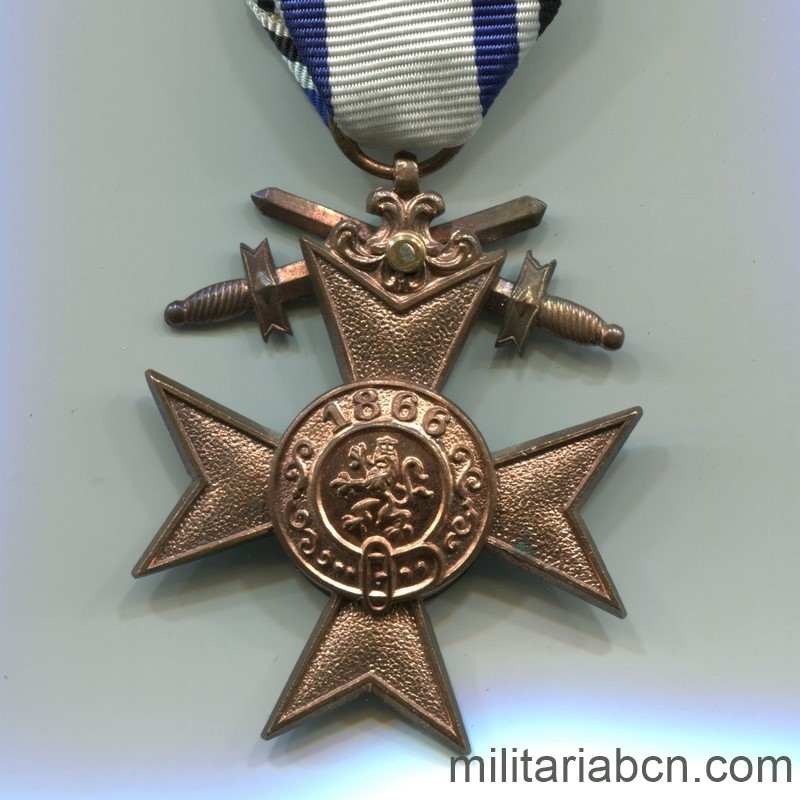 Militaria Barcelona Germany. Bayern Military Merit Cross. 2nd Class With swords. 1st World War. reverse