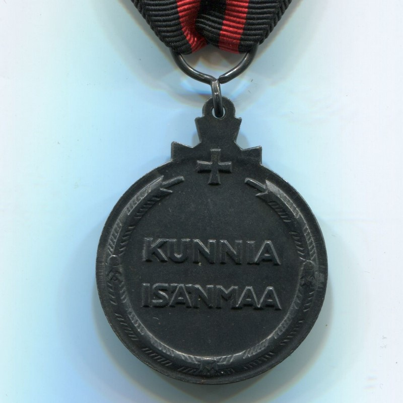 Militaria Barcelona Finland. Medal of the Winter War against the USSR 1939-1940. With Kenttäarmeija pin and two swords reverse