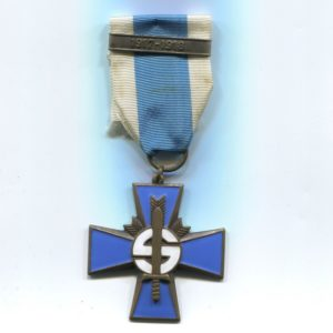 Militaria Barcelona Blue Cross w/ 1917-1918 bar, these were awarded to the Civil Guard members who participated the Finnish civil war. Ribbon