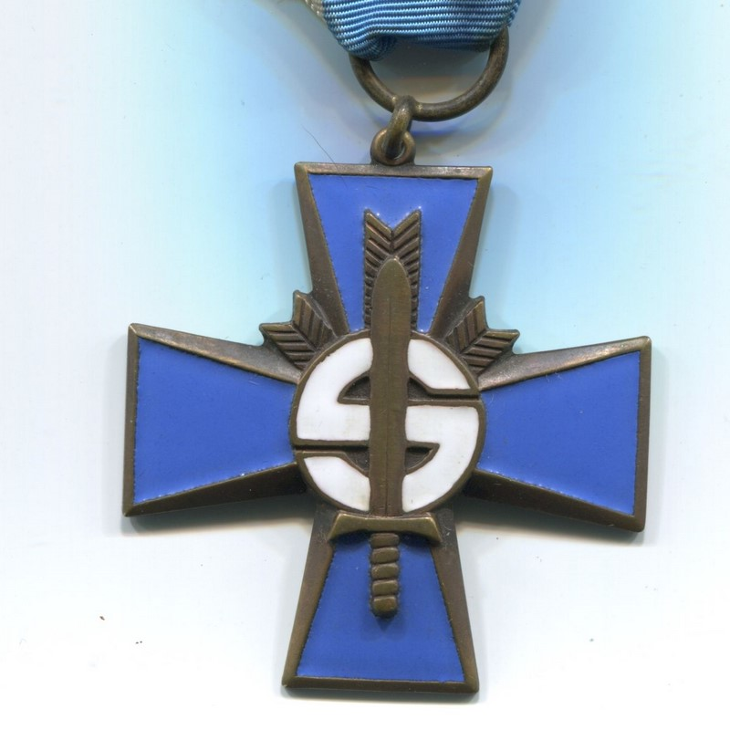 Militaria Barcelona Blue Cross w/ 1917-1918 bar, these were awarded to the Civil Guard members who participated the Finnish civil war.