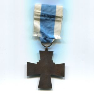 Militaria Barcelona Blue Cross w/ 1917-1918 bar, these were awarded to the Civil Guard members who participated the Finnish civil war. Ribbon reverse