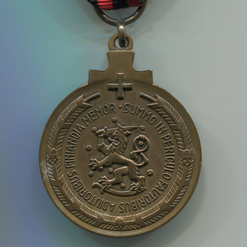 Militaria Barcelona Finland. Commemorative Medal of the Winter War. Variation for Swedish volunteers Reverse