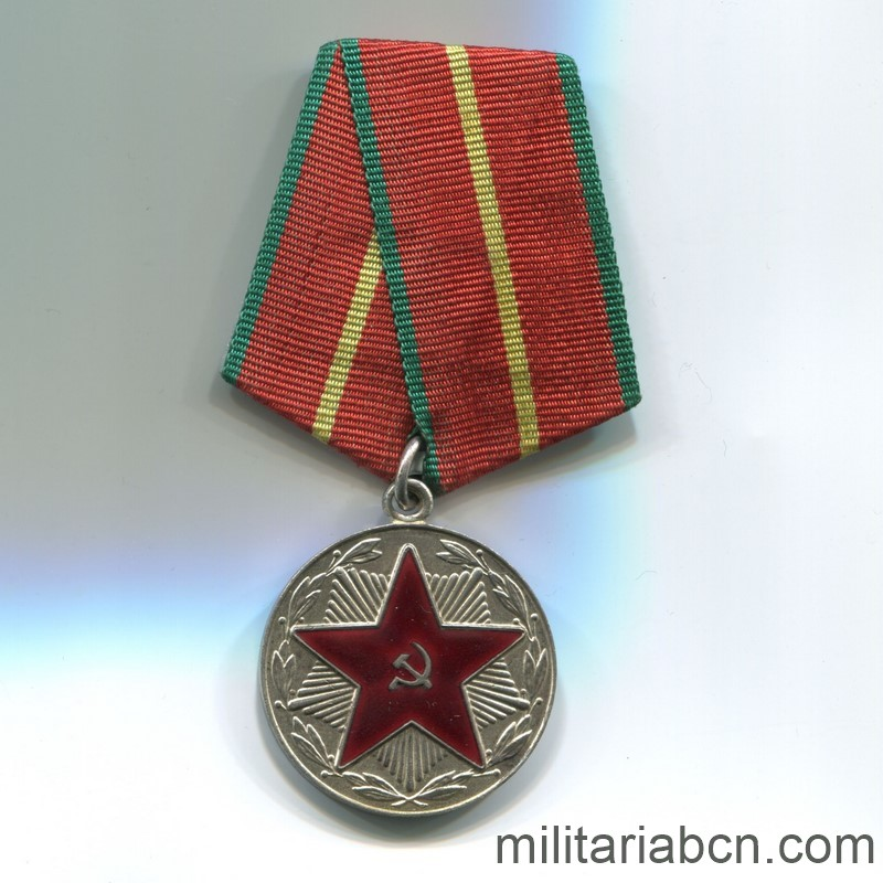 USSR Soviet Union Medal for irreproachable service moop Belarus republic