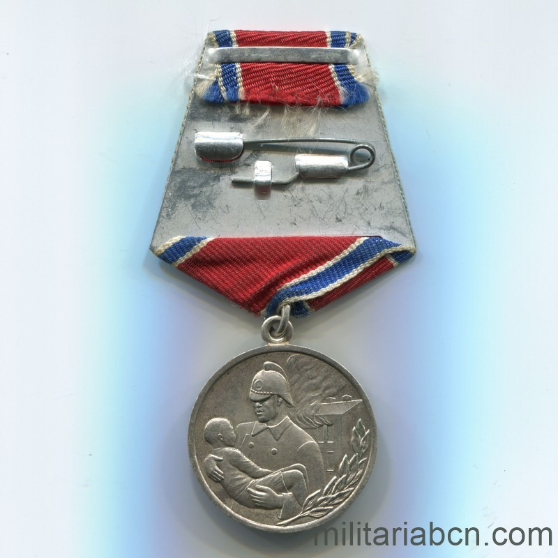 USSR Soviet Union Medal for Courage in a Fire reverse