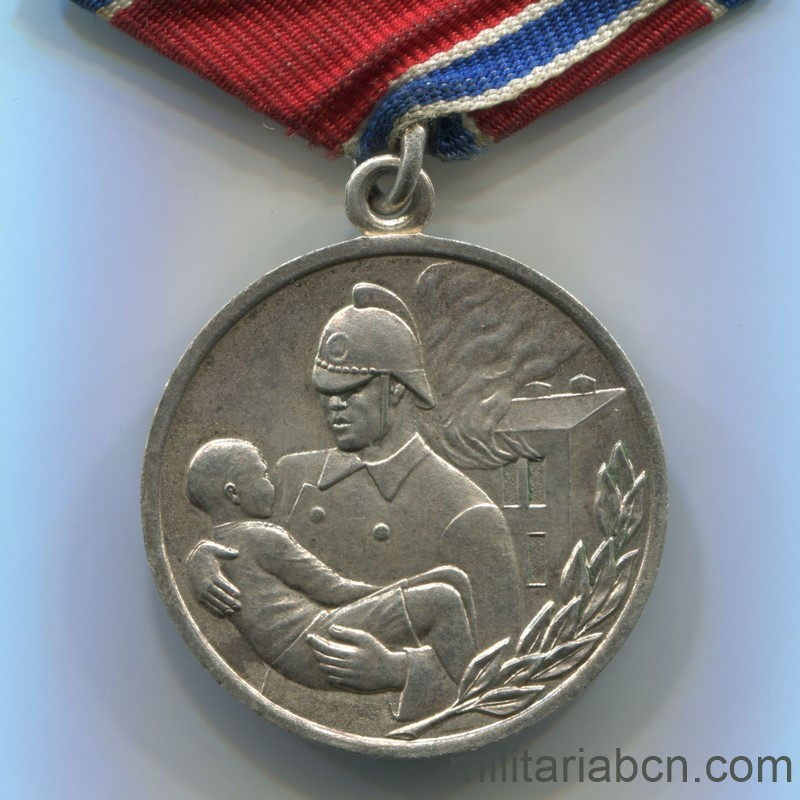 USSR Soviet Union Medal for Courage in a Fire firefighter