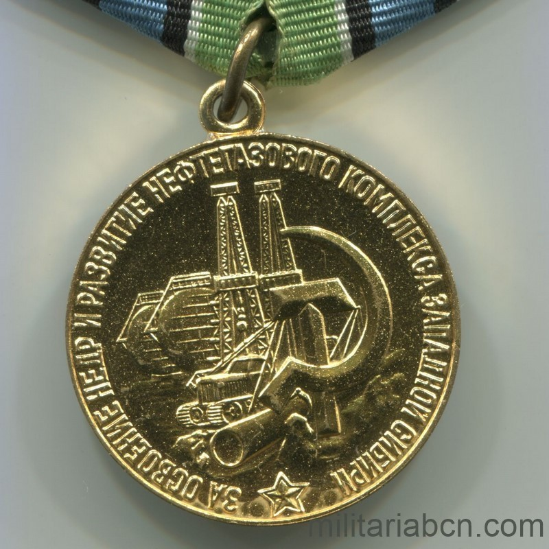 USSR Soviet Union Medal for Development of Oil and Gas Industry of Western Siberia civil award