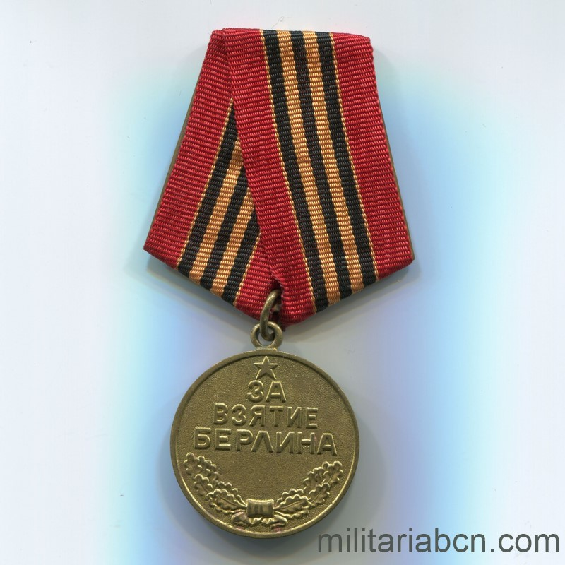 Militaria Barcelona USSR Soviet Union Medal for the Capture of Berlin