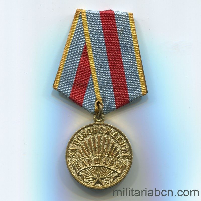 USSR Soviet Medal Medal for the Liberation of Warsaw