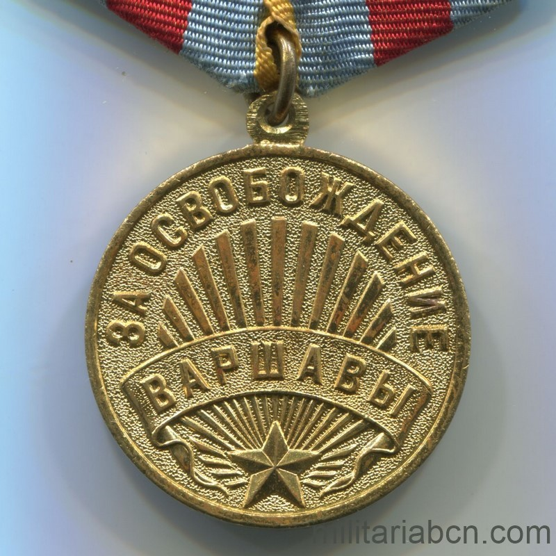 USSR Soviet Medal Medal for the Liberation of Warsaw ww2