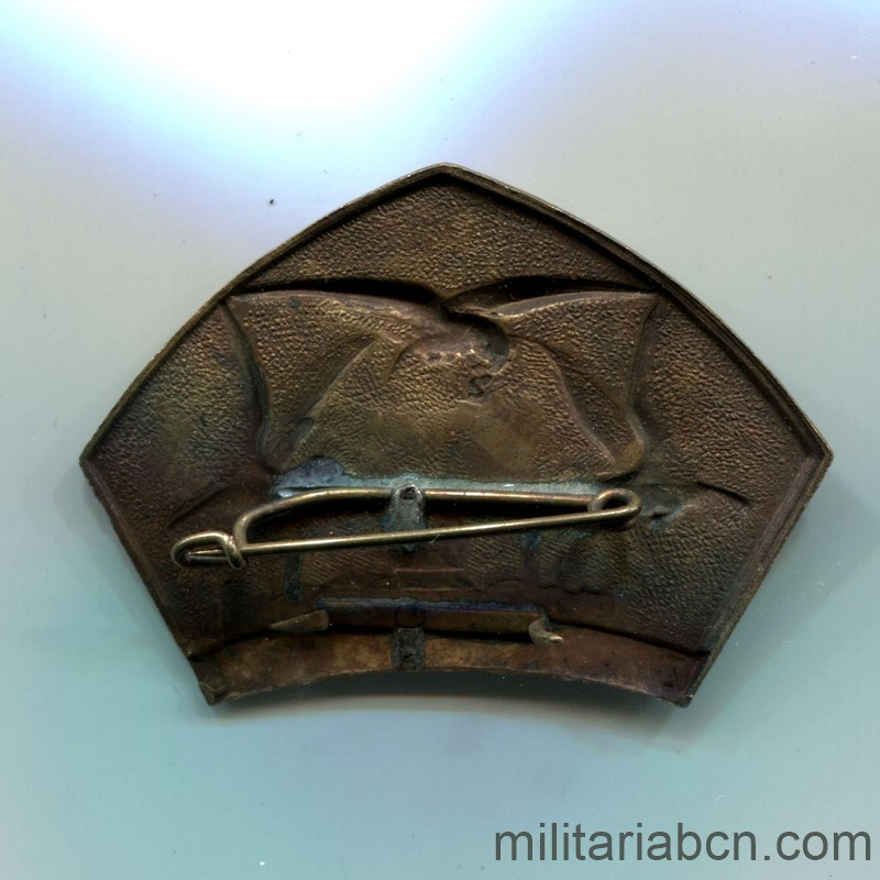 Militaria Barcelona Czechoslovak Republic.  1918-1938.  Sokol Badge of the Trip to Pilsen 1929  reverse