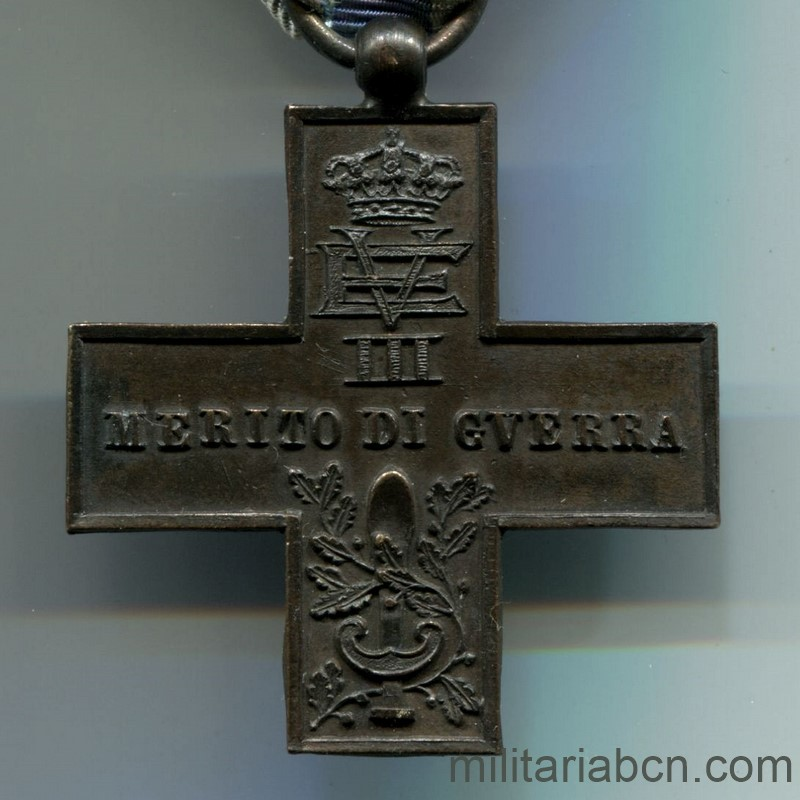 Militaria Barcelona Italy. Merito di Guerra Cross. Unifacial Made in Spain Spanish Civil War.